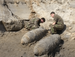 Explosieven Granaat Wereldoorlog ww2 Grondwerkzaamheden Bommenwerper